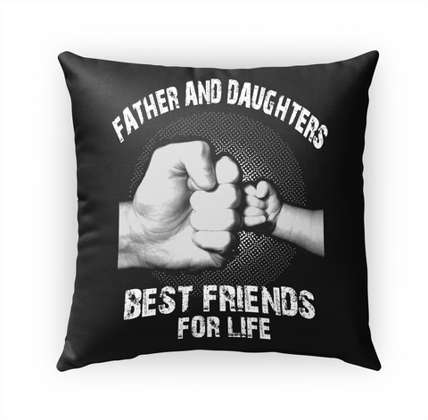 Father And Daughter Beat Friends For Life White T-Shirt Front