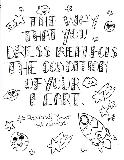Beyond Your Wardrobe Coloring Book  T-Shirt Left