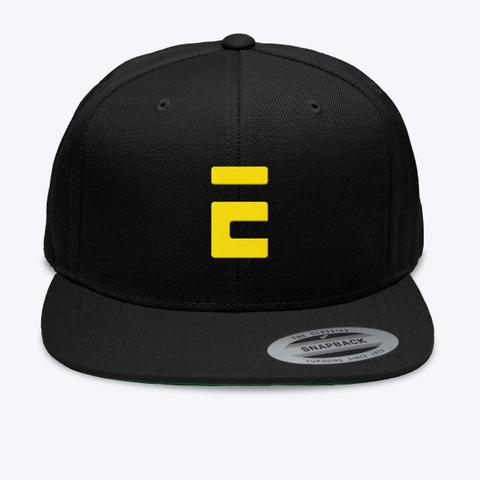 E Shapback Black T-Shirt Front