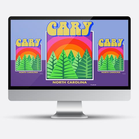 Cary North Carolina   T-Shirt Left