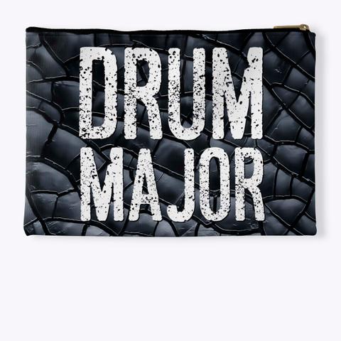 Drum Major   Black Crackle Collection Standard T-Shirt Back