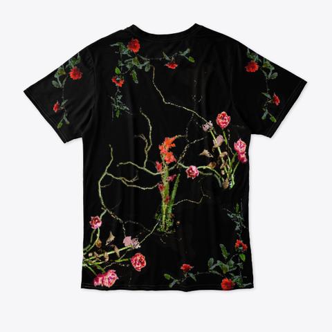Bpf (Black Pixel Floral) Standard T-Shirt Back