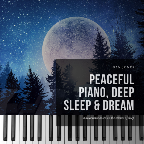 Peaceful Piano, Deep Sleep And Dream  T-Shirt Front