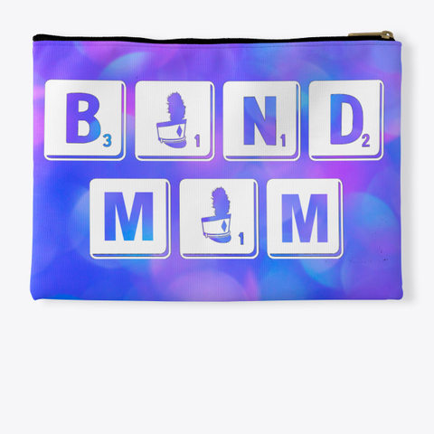 Band Mom Scrabble   Blue Pink Collection Standard T-Shirt Back