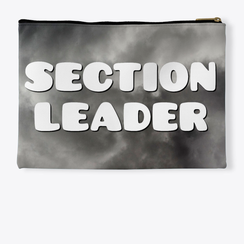 Section Leader   Black Cloud Collection Standard T-Shirt Back