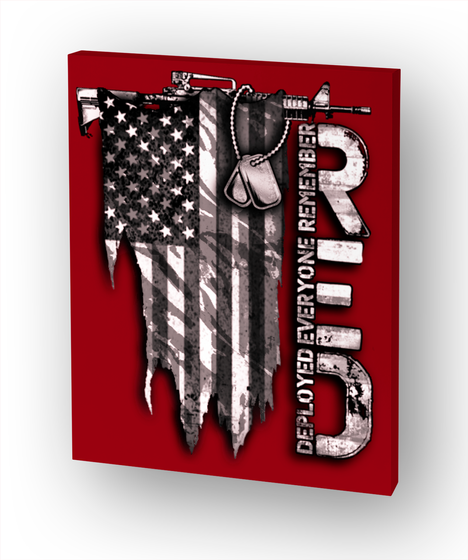 R.E.D Distressed Flag White T-Shirt Front