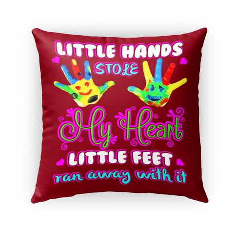 Little Hands Stole My Heart Little Feet Ran Away With It Standard T-Shirt Front