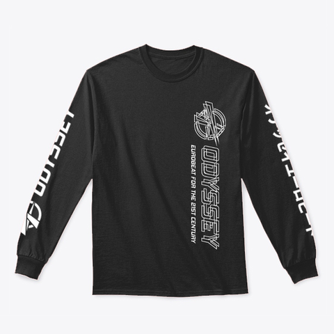 Odyssey Eurobeat For The 21st Century Black T-Shirt Front