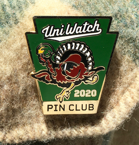 Uniwatch 2020 Pin Club Standard T-Shirt Front