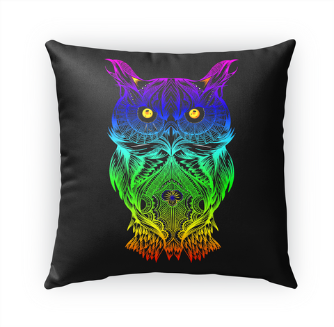 Psychedelic Retro Hippie Owl  Standard T-Shirt Front