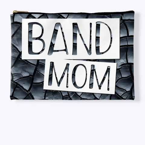 Band Mom   Black Crackle Collection Standard T-Shirt Front