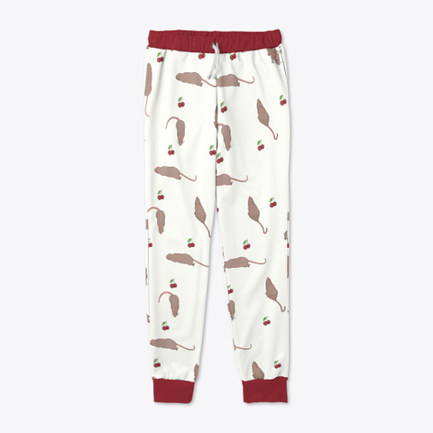 Cherry Rat Joggers In White Standard Maglietta Front