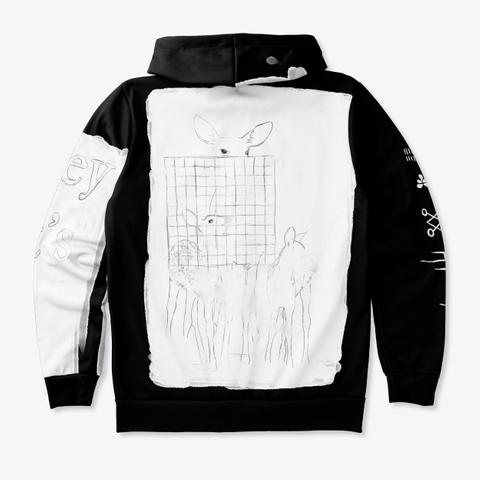 Grid Deer Hoodie Standard T-Shirt Back