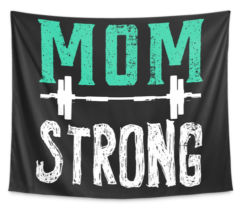 Mom Strong White T-Shirt Front