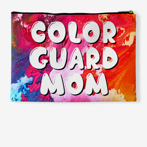Color Guard Mom   Rainbow Collection Standard T-Shirt Back