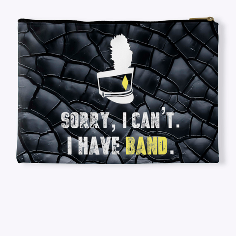Sorry, I Can't Black Crackle Collection Standard T-Shirt Back