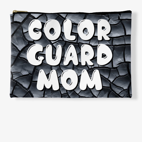 Color Guard Mom Black Crackle Collection Standard T-Shirt Front