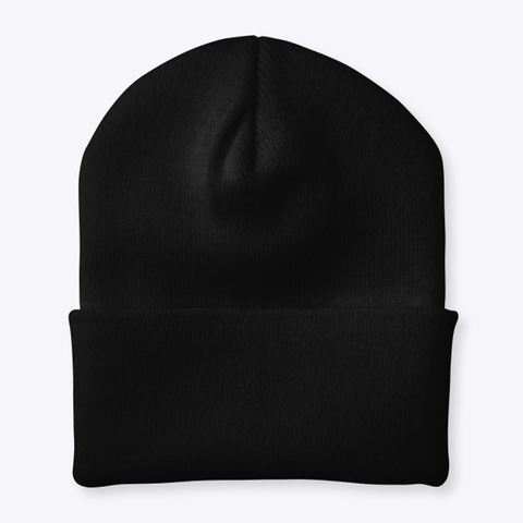 Vegan Voyagers Beanie Black T-Shirt Back