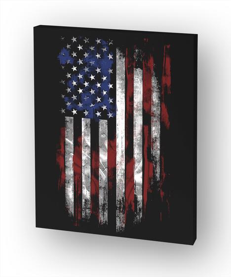 American Flag White Camiseta Front