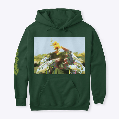 """""""Perfect Flaw""""   Hoodie Forest Green T-Shirt Front"""