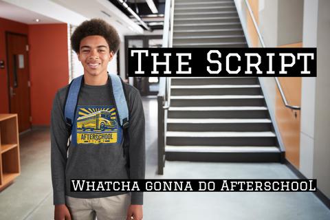 The Afterschoo L Movie Script  T-Shirt Front