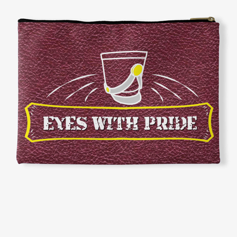 Eyes With Pride   Maroon Collection Standard T-Shirt Back
