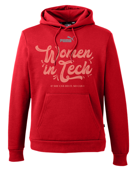 Puma Women In Tech If She Can Do It. So Can I High Risk Red T-Shirt Front