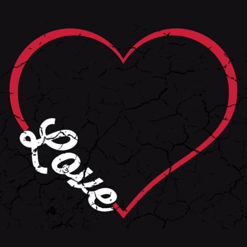 Iove Heart Design  T-Shirt Front