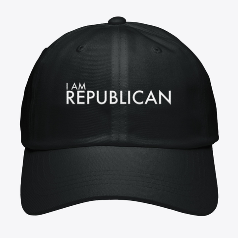 I Am Republican Black T-Shirt Front