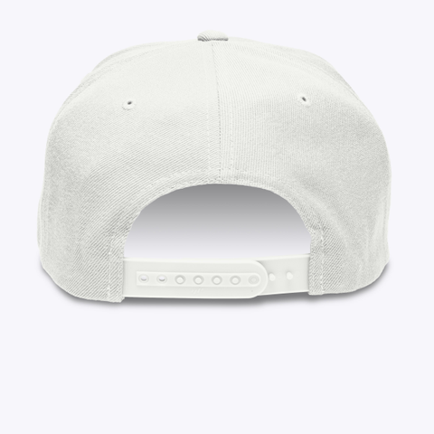 Cmw Cap (Black Embroidery) White T-Shirt Back