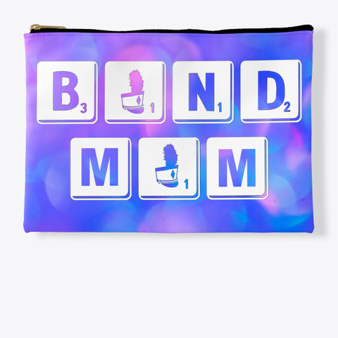 Band Mom Scrabble   Blue Pink Collection Standard T-Shirt Front