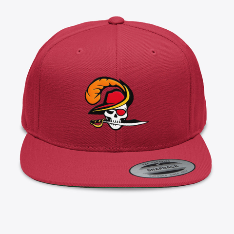 Bucs Life Hats Red T-Shirt Front