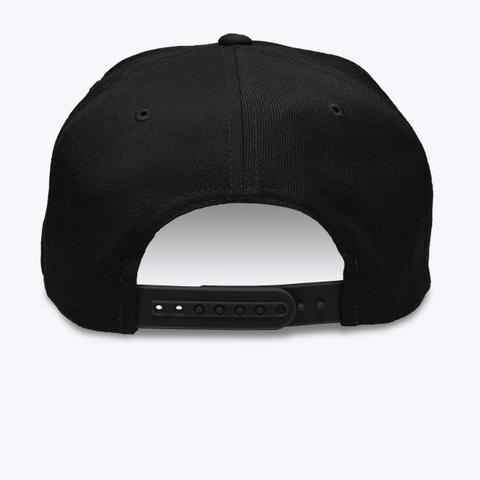 Embroidered Flat Brim Cap Black Camiseta Back