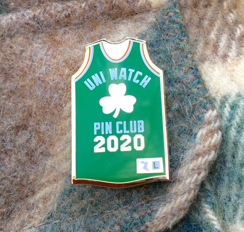 Uni Watch Pin Club: March 2020 Standard T-Shirt Front