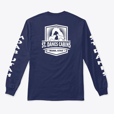 St. Danes Cabins Moab, Utah Navy T-Shirt Back