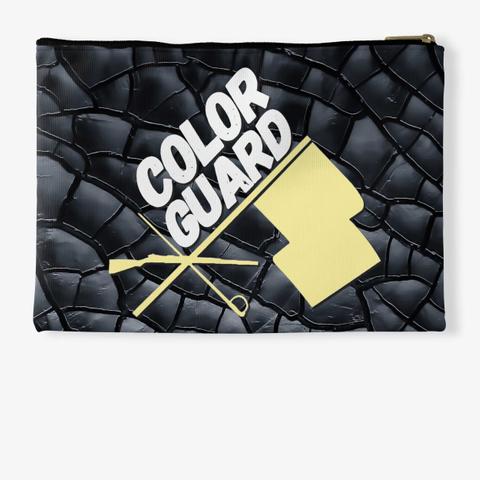 Color Guard Flag/Rifle/Sabre Black Crack Standard T-Shirt Back
