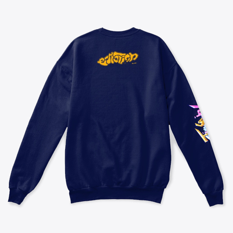 """Stimulation""   Sweater Navy  T-Shirt Back"