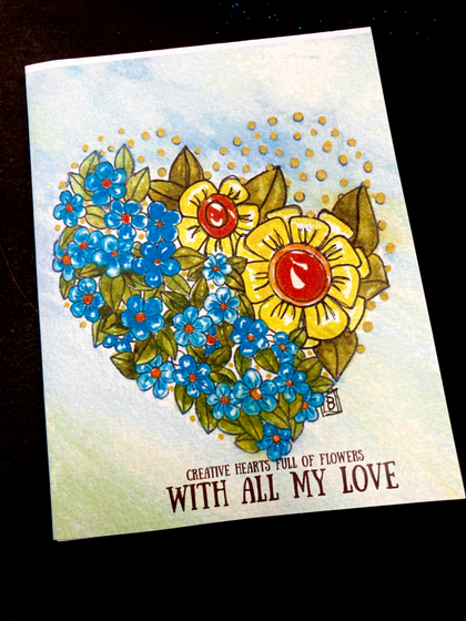 Creative Hearts Mini Coloring Book Cards  T-Shirt Front