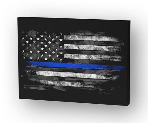 Thin Blue Line Flag Standard T-Shirt Front