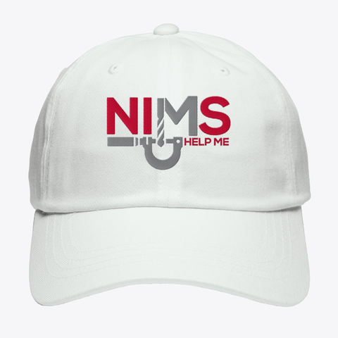 Nims Help Me Hat Dad White White T-Shirt Front