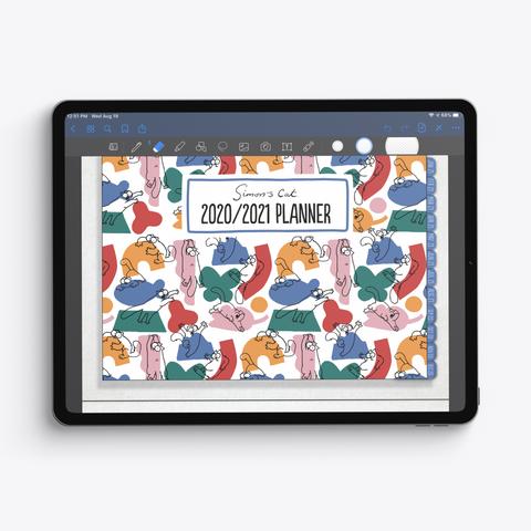 Simon's Cat 2020/2021 Planner  T-Shirt Front