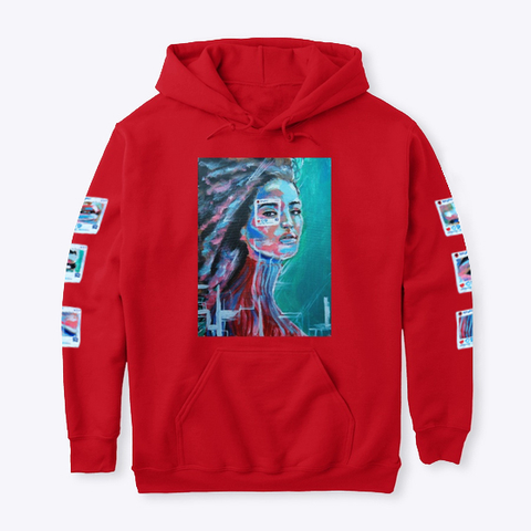 """You Are Not The Photo""   Hoodie Red T-Shirt Front"