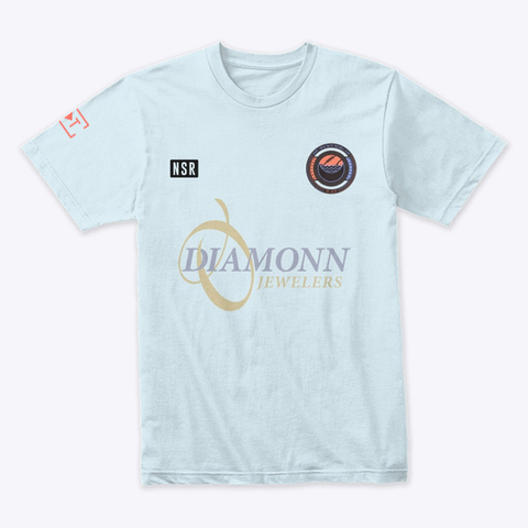 Nsr Diamonn D Jewelers Light Blue T-Shirt Front
