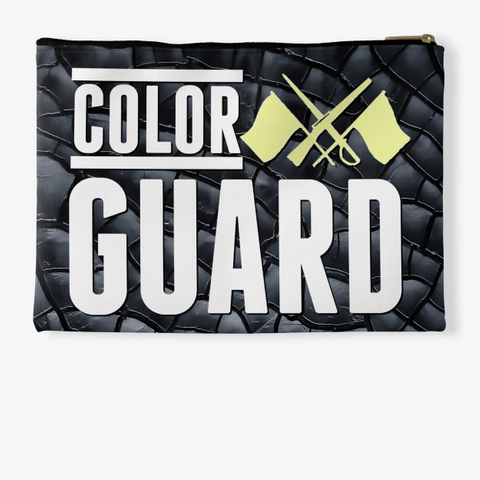 Color Guard   Black Crackle Collection Standard T-Shirt Back