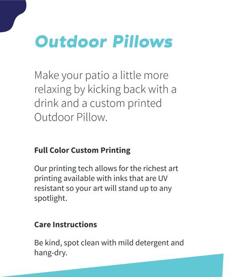 Outdoor Pillows White T-Shirt Back