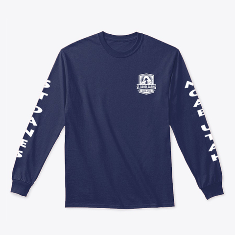 St. Danes Cabins Navy T-Shirt Front