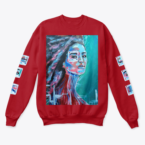 """""""You Are Not The Photo""""   Sweater Deep Red  T-Shirt Front"""