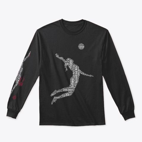 Volleyball Jump Server Dutch Flag Black T-Shirt Front