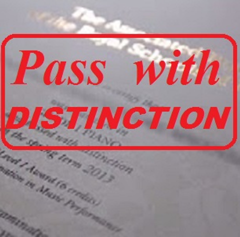 Pass Abrsm With Distinction  T-Shirt Front