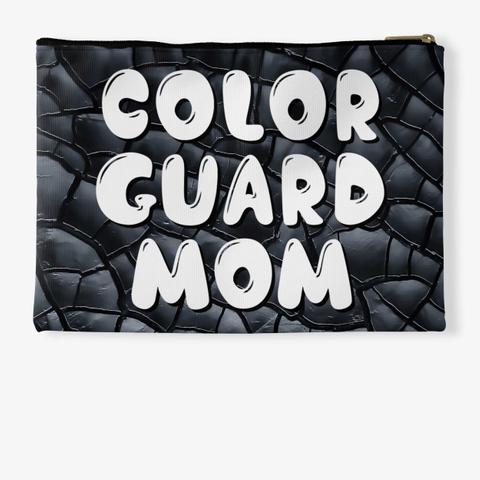 Color Guard Mom Black Crackle Collection Standard T-Shirt Back